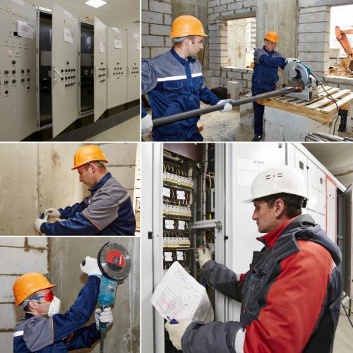 Выполнение внутренних, наружных электромонтажных работ на промышленных и жилых зданиях